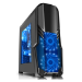 Spire G Force ATX Gaming Case with Window, No PSU, Blue LED Fans, Card Reader, Fan Controllers