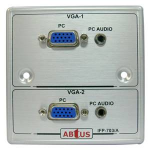Abtus Metal Single Gang Interface Panel IFP-703A (with 2 VGA & 2 PC Audio)