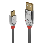 Lindy 36632 USB cable 2 m USB 2.0 USB A Mini-USB B Grey