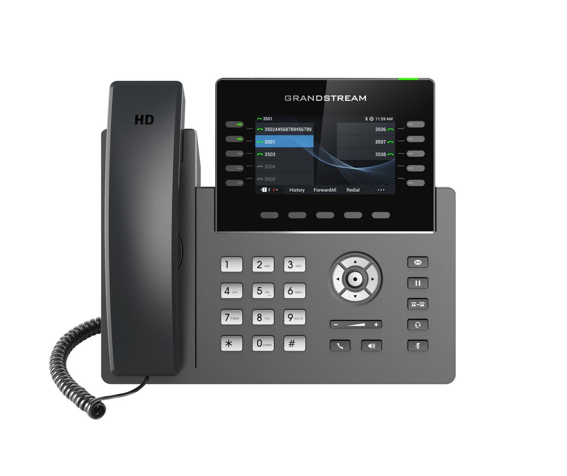 Grandstream Networks GRP2615 IP phone Black,Grey Wired handset TFT 10 lines Wi-Fi