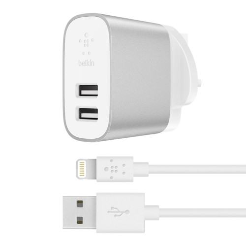 Belkin F8J230MY04-SLV mobile device charger Indoor Silver,White