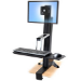 Ergotron WorkFit-S, Single LD Sit-Stand Workstation White computer desk