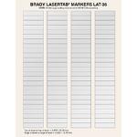 Brady LaserTab Silver Self-adhesive printer label