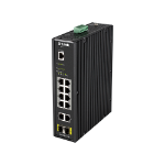 D-Link DIS-200G-12PS network switch Managed L2 Gigabit Ethernet (10/100/1000) Black Power over Ethernet (PoE)