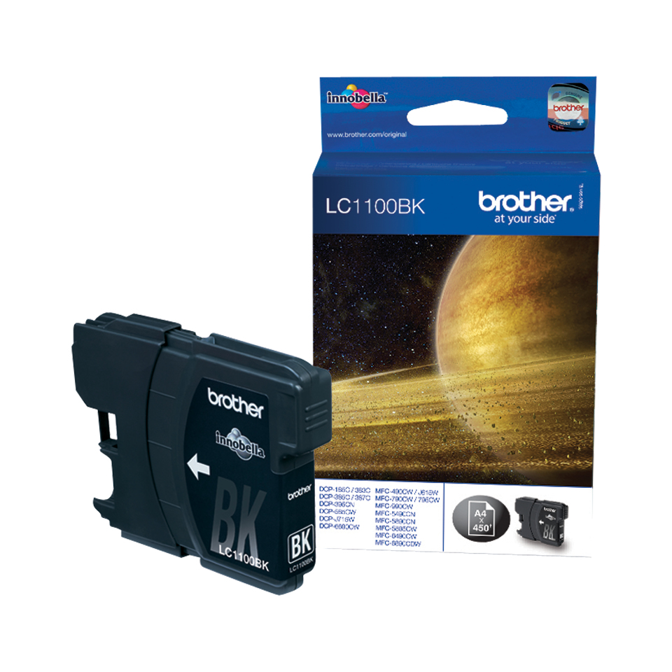 Brother LC-1100BK Black Ink Cartridge Original Negro 1 pieza(s)
