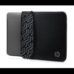 "HP 15.6"" Neoprene Reversible Sleeve notebook case 39.6 cm (15.6"") Sleeve case Grey"