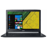 "Acer Aspire 5 A517-51-31N1 Zwart Notebook 43,9 cm (17.3"") 1600 x 900 Pixels Zevende generatie Intel® Core™ i3 i3-7020U 4 GB DDR4-SDRAM 1000 GB HDD"