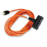 Black Box EPWR44 indoor/outdoor 3AC outlet(s) 15.2m Black,Orange power extension