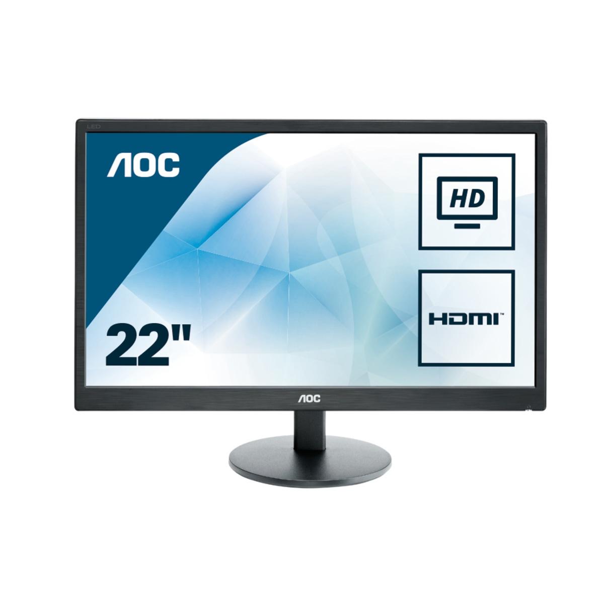 "AOC Basic-line E2270SWHN LED display 54,6 cm (21.5"") 1920 x 1080 Pixeles Full HD Plana Mate Negro"
