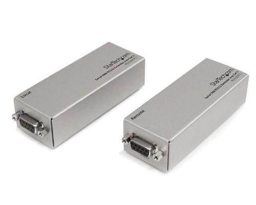 StarTech.com RS232EXTC1GB network extender Network transmitter Silver