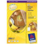 Avery L6043-100 printer label Transparent CD