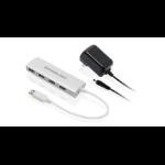 iogear GUH304P interface hub USB 3.2 Gen 1 (3.1 Gen 1) Type-A 5000 Mbit/s Aluminium