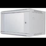 """Intellinet 19"""" Wallmount Cabinet, 6U, 370 (h) x 570 (w) x 450 (d) mm, Max 60kg, Flatpack, Grey"""