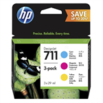 HP P2V32A (711) Ink cartridge multi pack, 29ml, Pack qty 3