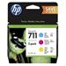 HP P2V32A (711) Ink cartridge multi pack, 29ml, Pack qty 3