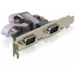 DeLOCK PCI Express > 2 x Serial RS-232 PCI Express cable interface/gender adapter