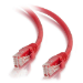 C2G Cable de conexión de red de 2 m Cat5e sin blindaje y con funda (UTP), color rojo