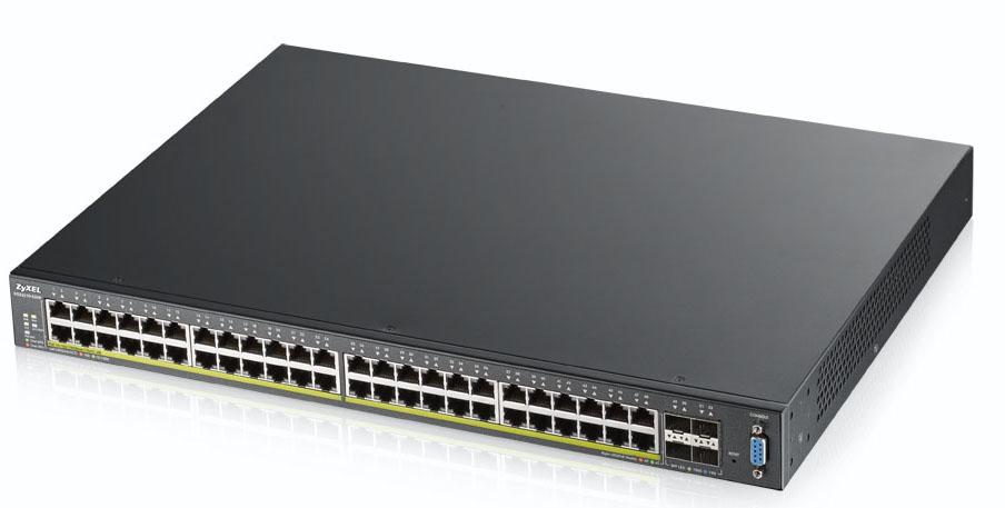 Zyxel XGS2210-52HP Gestionado L2 Gigabit Ethernet (10/100/1000) Negro 1U Energía sobre Ethernet (PoE)