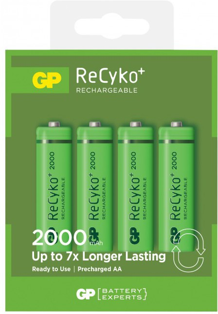 GP Batteries 210AAHC R6/AA 4-PACK (RECYKO L RECYKO LADDNINGSBARA - Approx 1-3 working day lead.