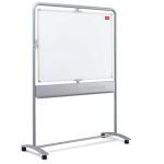 Nobo Mobile Whiteboard Vertical Pivot Magnetic Steel 1200x900mm whiteboard