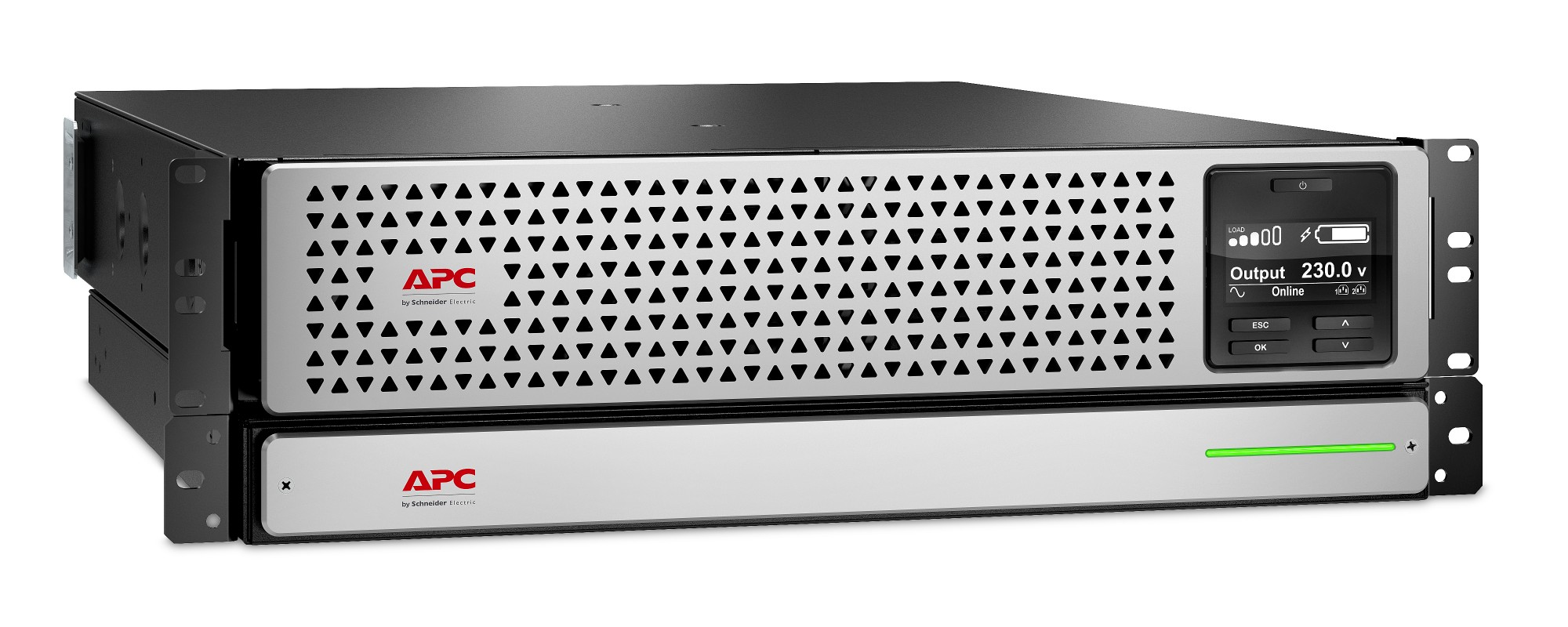 APC SRTL1500RMXLI sistema de alimentación ininterrumpida (UPS) Doble conversión (en línea) 1500 VA 1350 W 8 salidas AC