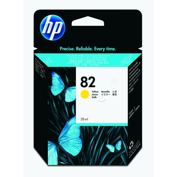 HP CH568A (82) Ink cartridge yellow, 28ml
