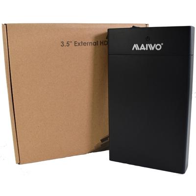 "MAIWO USB 3.0 3.5"" External Hard Drive Enclosure- Black  - With Power Adapter"