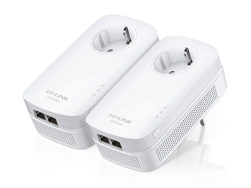 TP-LINK AV1000 Ethernet LAN White 2pc(s) PowerLine network adapter