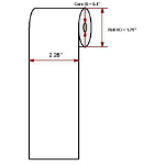 "Datamax O'Neil Premium 2.25"" x 74' thermal papier"