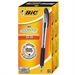 BIC Atlantis Stic Stick ballpoint pen Medium Black 12pc(s)