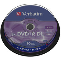 DVD+r Media 8.5GB 8x Double Layer Spindle 10-pk