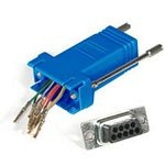 C2G RJ45/DB9F Modular Adapter RJ45 DB9 FM Blue cable interface/gender adapter
