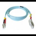 Hypertec 391785-HY fibre optic cable 0.5 m SC LC OM3 Aqua colour