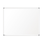 Nobo Prestige Enamel Magnetic Whiteboard 500x350 with Aluminium Trim
