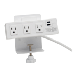 "Tripp Lite TLP310USBCW surge protector 4 AC outlet(s) 120 V 120.1"" (3.05 m) White"