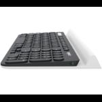 Logitech K780 keyboard RF Wireless + Bluetooth QWERTY English Black,White