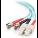 C2G 85524 cable de fibra optica 3 m OFNR SC ST Turquesa