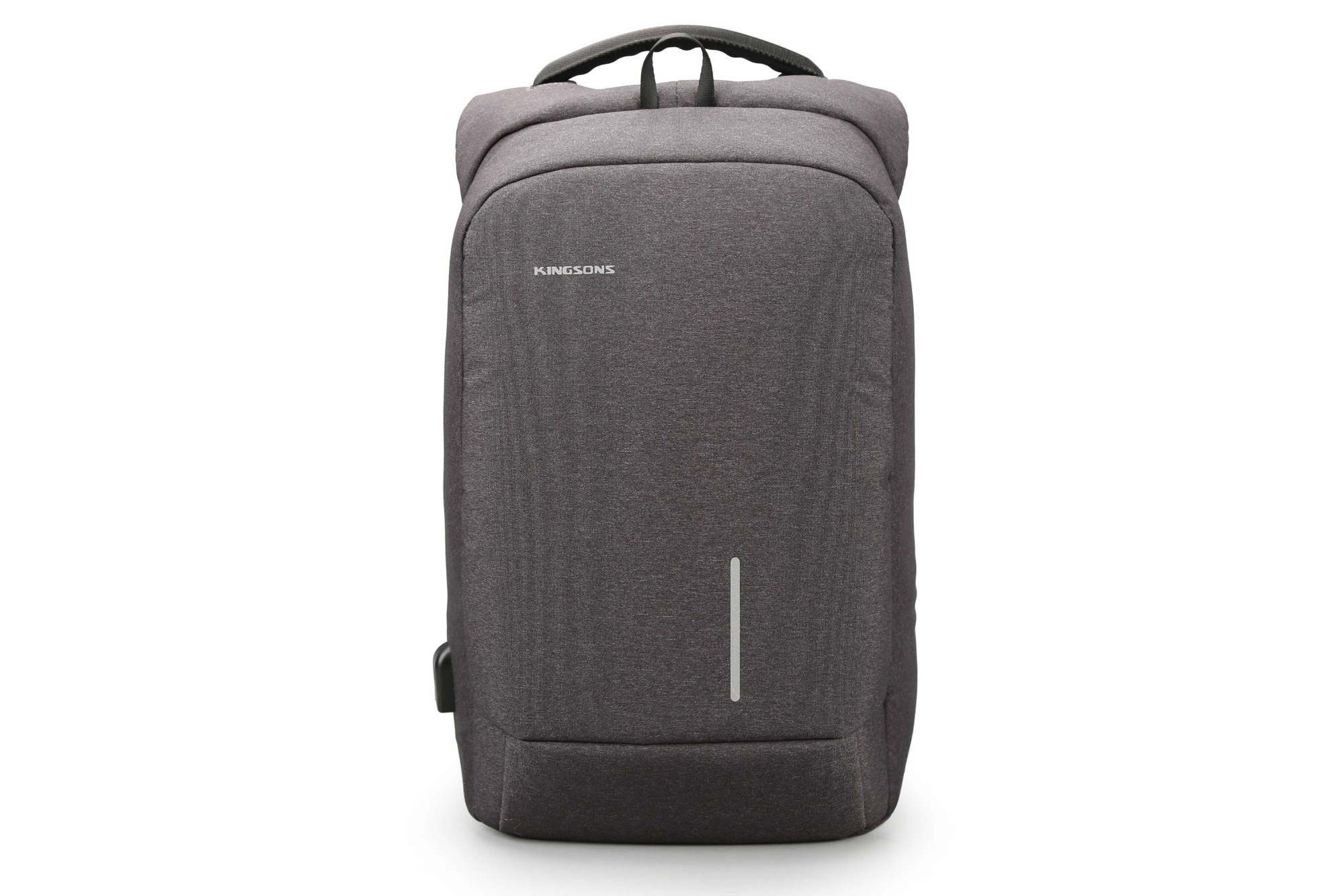"Kingsons Anti Theft Smart USB Series 15.6"" Laptop Backpack - Dark Grey"