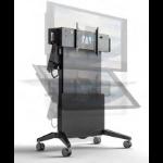 Salamander Designs Large Electric Lift & Tilt Mobile Display Stand Multimedia cart Graphite,Grey Flat panel