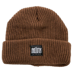 CALLOUS Chunky Thick Knit Acrylic Beanie Hat, Brown (C017)