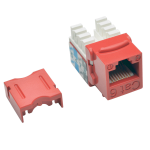 Tripp Lite Cat6 / Cat5e 110 Style Punch Down Keystone Jack RJ45 - Red