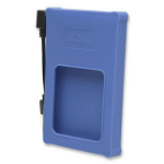 "Manhattan Drive Enclosure, USB 2.0, SATA, 2.5"", Blue, Silicone, Windows or Mac, Blister"