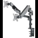 "Manhattan 461597 flat panel desk mount 81.3 cm (32"") Clamp Grey"