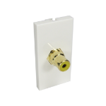 Cables Direct AV-MOD1RCAYL socket-outlet RCA White