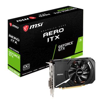 MSI GPU Nvidia GTX1650 Super Aero ITX OC 4G Fan