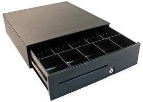 100 Slide-out Cash Drawer Black, 406 X424x125,