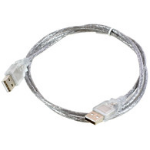 Microconnect USB 2.0 A-A 3m M-M 3m USB A USB A Male Male Transparent USB cable