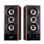 Genius SP-HF800A 20W Black, Wood loudspeaker
