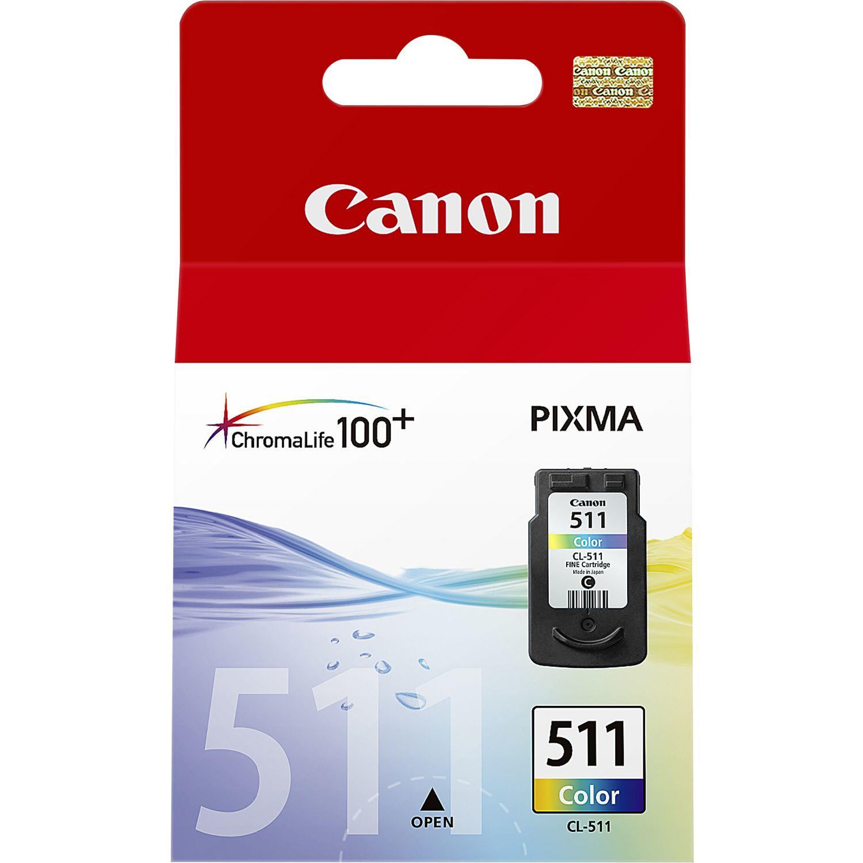 Canon CL-511 Colour inktcartridge Original Cyaan, Magenta, Geel 1 stuk(s)