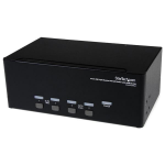 StarTech.com 4 Port Triple Monitor DVI USB KVM Switch with Audio & USB 2.0 Hub